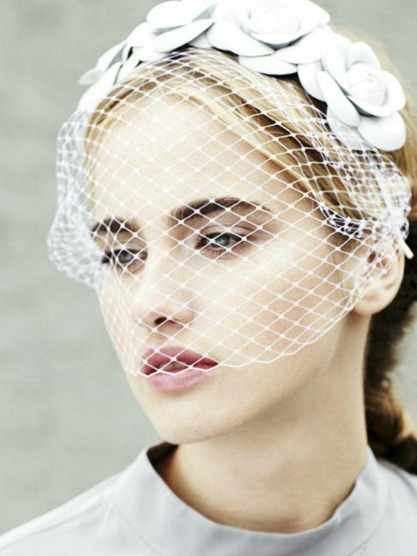 Birdcage wedding veil Photo: Jennifer Behr