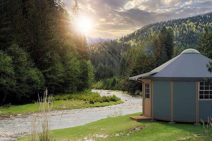 Freedom Yurt Cabin – энергоэффективные мобильные дома-юрты