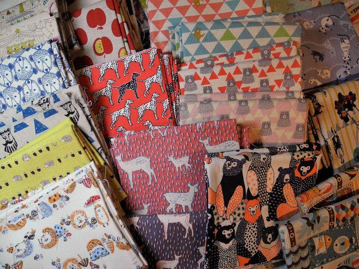 Telas para patchwork japonesas cortadas en fat quarter