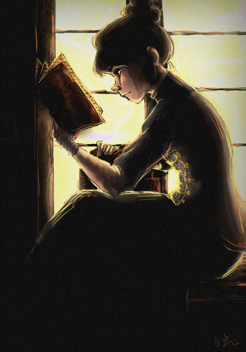 """fillinoctis:  """"A Good Book is All I Need"""""""