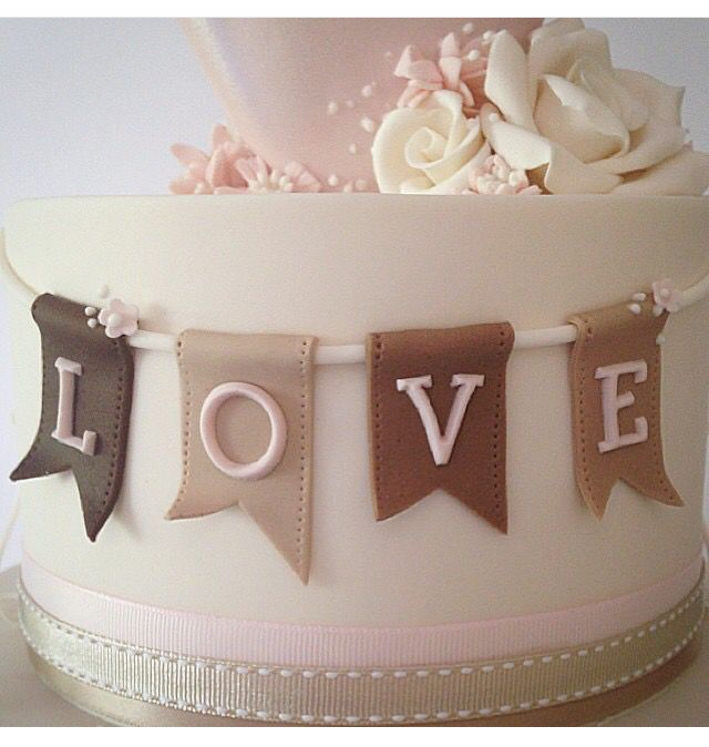 Fondant Love Lettering on a Banner