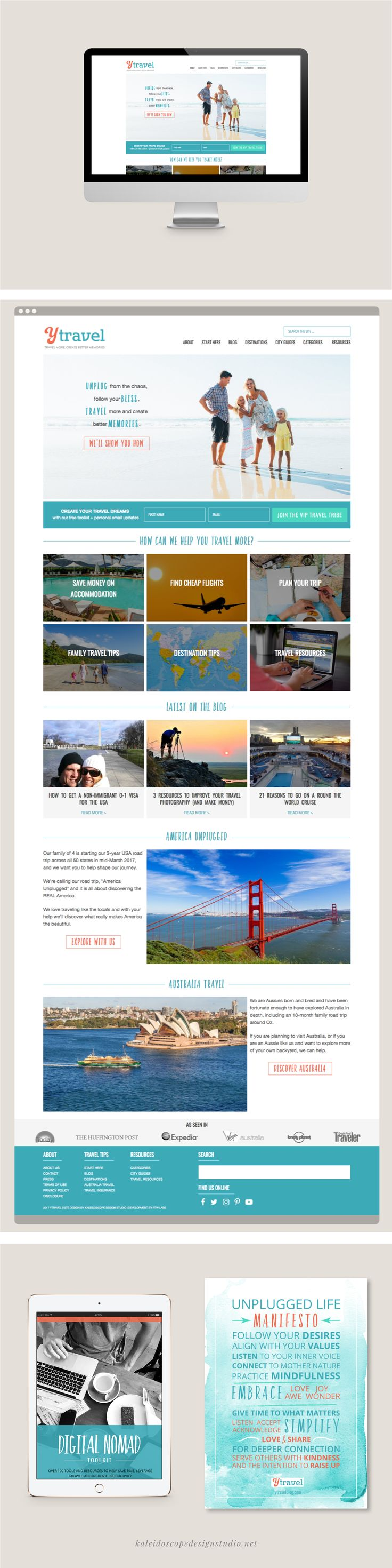 yTravel Blog Website Design - Kaleidoscope Design Studio