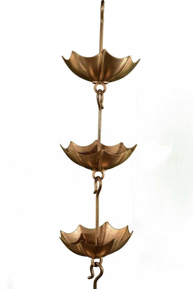 Copper Umbrella Rain Chain Fully functional Available in Custom Lengths Free Shipping