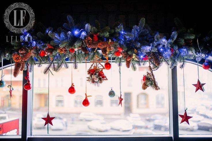 Новогоднее оформление ваших локаций в Киеве - Flora