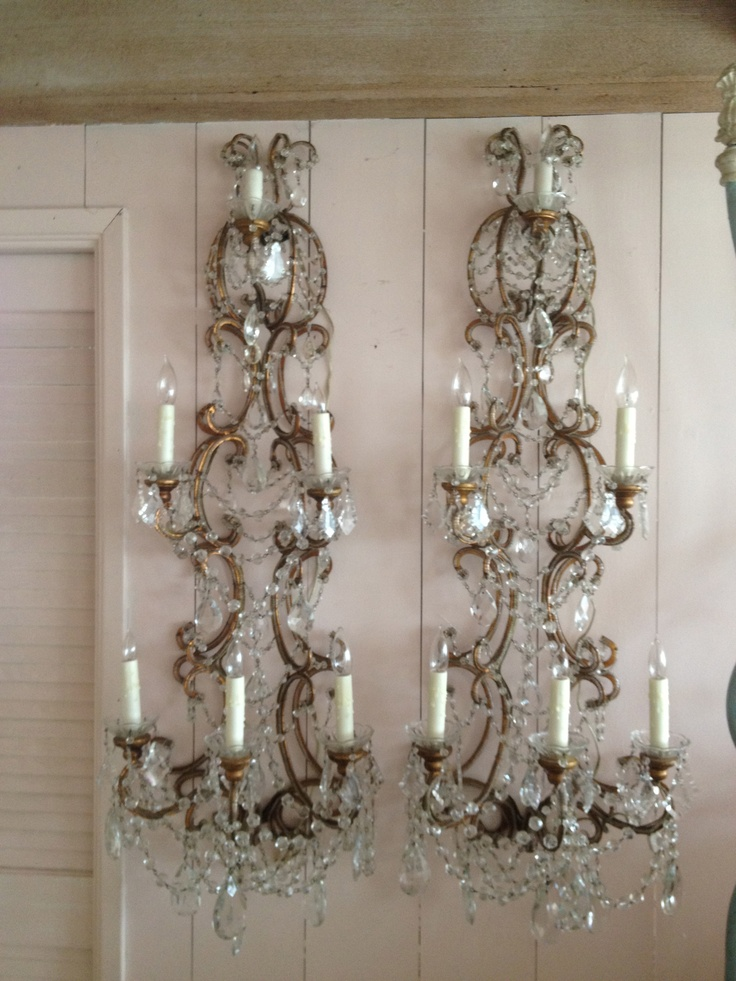 Jeweled Candle Wall Sconces : 997 best images about Chandeliers~~Sconces~Candlelabra s on Pinterest Blue chandelier ...