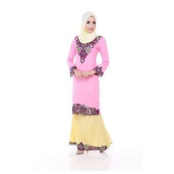 Arina Kurung Modern - Amaranth Pink Arina Modern Kurung is the latest collections from MARIBELI BUTIK made of a very high quality, comfortable to wear, and very nice cotton material. With perfect tailor made. Measurements: XS - shoulder 13.5, chest 34, waist 32, hip... #bajukurung #bajukurungmoden