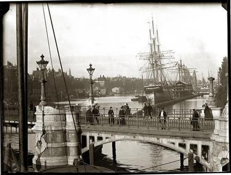 Nieuwe Vaart, Amsterdam, by Jacob Olie, circa 1890