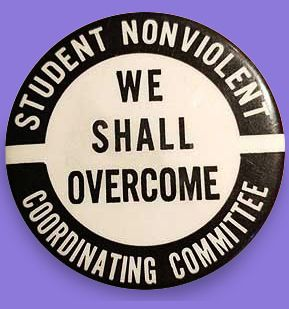 "I picked up this 1960s Student Nonviolent Coordinating Committee Pinback from the original owner. He had gotten it back then - not at a Civil Rights rally but an anti-Vietnam Protest. With the ""We Shall Overcome"" mantra - it brings to mind the Civil Rights struggle first but he said at his University they were active in both."
