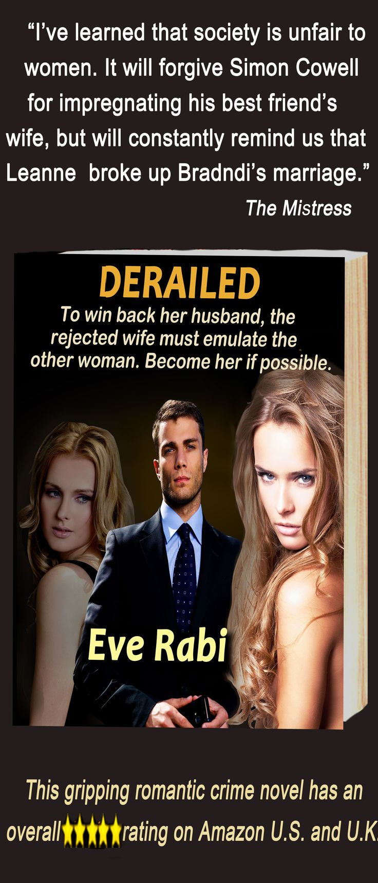 """#RomanticCrime #RomanticSuspense #CrimeFiction #Books #EveRabi Author #FollowBack ........ """"Bored with regular romance? Try this author's books. You won't be sorry, trust me. They are like nothing you have ever read."""" Amazon reviewer."""