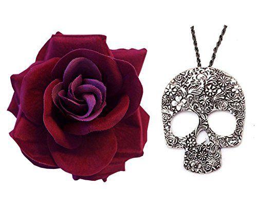 Día Del De Muerto Gótico Oscuro Rojo La Rosa + Largo Gran... https://www.amazon.es/dp/B01HZTIUNC/ref=cm_sw_r_pi_dp_x_1S8Fzb5ABZ3TD