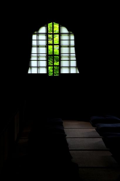 the window of Enko-ji temple, Kyoto, Japan