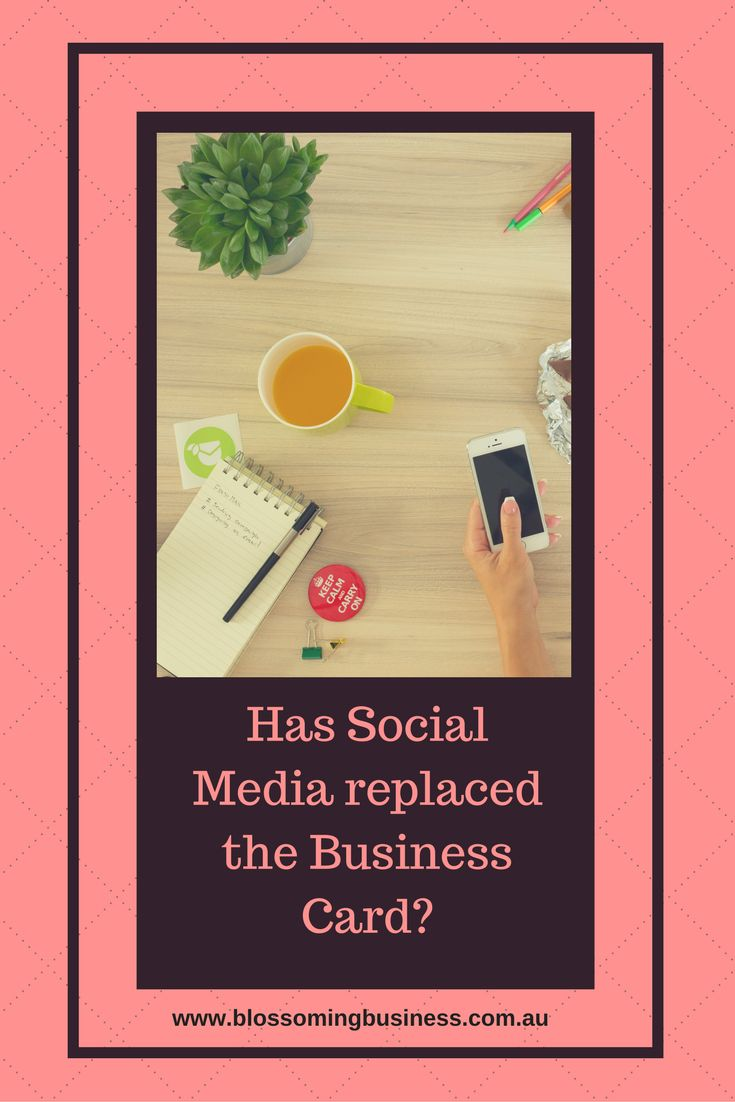Is the business card really dead? Can social media better meet the needs of your business? Read more here...
