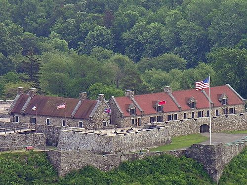 Originally constructed by the French between 1754 and 1757, the Fort Ticonderoga exists at a narrows near the south end of Lake Champlain; at the time of its original construction, Fort Ticonderoga controlled a river portage along the mouth of the La Chute River, giving it strategic importance during the 18th-century conflicts between England and France, and the American Revolution.