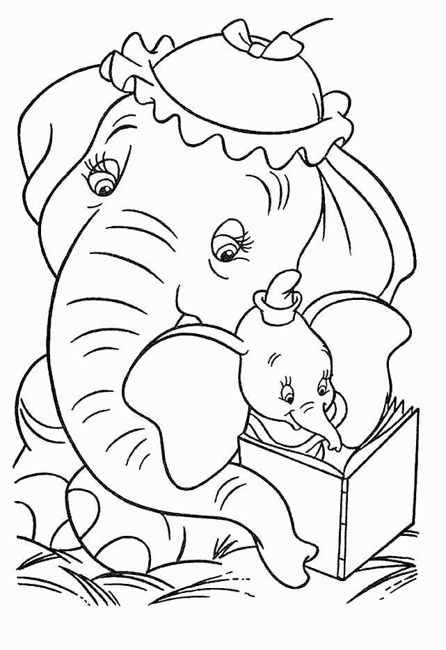 Printable Dumbo Coloring Pages For Kids | Elephant coloring ...