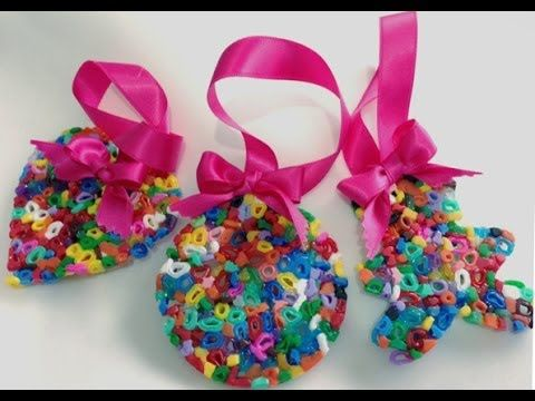 59 best crafts hama beads images on pinterest hama beads for Como hacer adornos de navidad