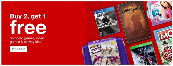 12 7 19 Only B2g1 Free Video Games Target Up To