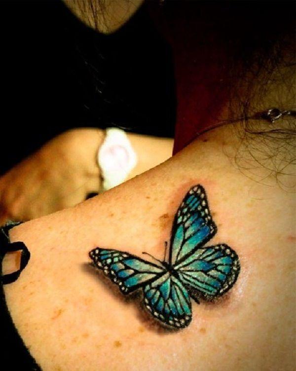 3D butterfly tattoo 43 - 65 3D butterfly tattoos   <3