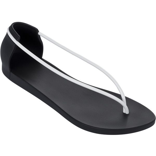 Ipanema Flip-flops - Ipanema Philippe Starck Thing N Fem Black/white ($45) ❤ liked on Polyvore featuring shoes, sandals, flip flops, black, ipanema flip flops, black sandals, kohl shoes, black white shoes and ipanema sandals