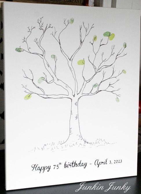 thumbprint tree at www.junkinjunky.blogspot.com