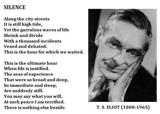 meaningless relationships in t s eliots the The intellectual and religious development of t s eliot reflected in selected readings of his poetry  this comment clearly shows the relationship of eliot with indian thought and religion his approach to it, as described by jain, was one of an intellectual  damyata, respectively meaning give, sympathize, control in the upanishadic.