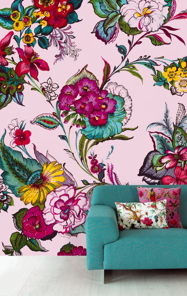 Surround yourself with the Ibiza Collection, and relive your beautiful journey over and over again. This beautiful floral wallpaper mural is from the Ibiza range by Eijffinger. Available through Guthrie Bowron.