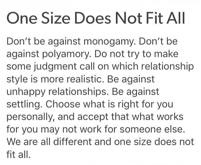"that being said, conscious monogamy absolutely IS for me, it naturally suits who I am on a soul level, & I will not tolerate being told I am ""brainwashed"" by society for thinking so LMAO. (Also inexcusable: non-consensual non monogamy, aka cheating, which is ABUSE & is NEVER acceptable! Serial cheating esp. indicates a personality disorder, not someone who ""just doesn't fit with the monogamy model."" The problem is *mostly* you, not the ""system"" (an easy scapegoat) )"
