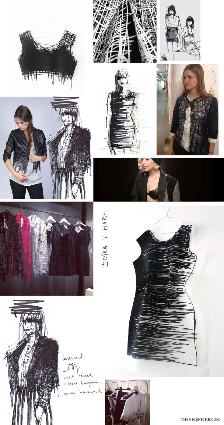 Fashion Sketchbook - designing a collection of wearable sketches; fashion design development // Elvira 't Hart