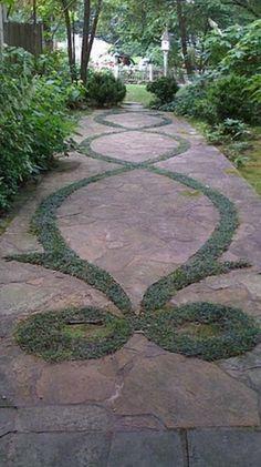 Garden Gates, Pathway Ideas, Backyard Ideas, Garden Ideas, Paths, Broken  Concrete, Ground Covering, Sidewalks, Garden Landscaping