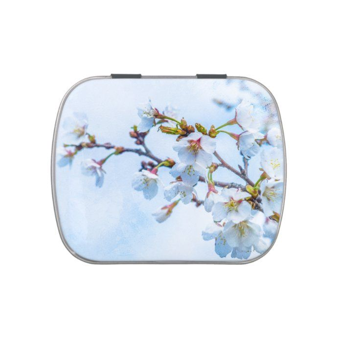 Sakura Japanese Cherry Blossom Jelly Belly Candy Tin Zazzle Com In 2020 Japanese Cherry Blossom Japanese Cherry Candy Tins