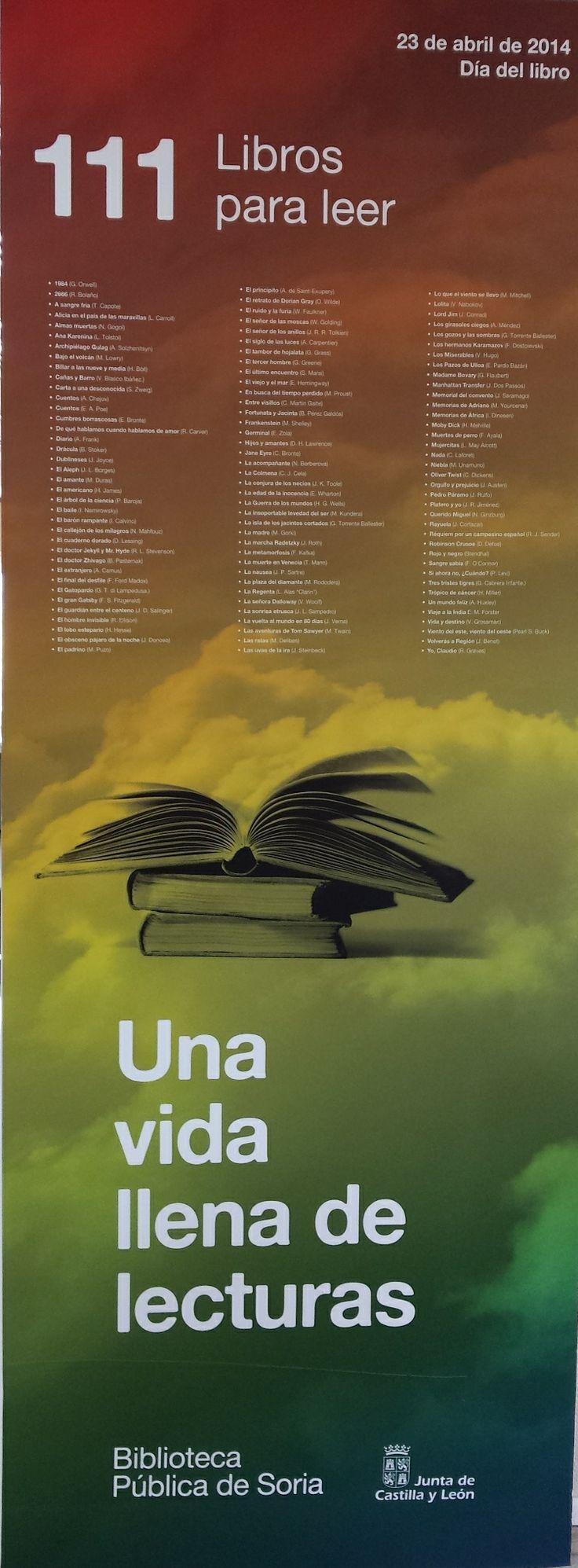 Exposición 111 libros para leer.