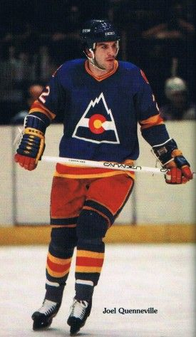 Joel Quennevile of the Colorado Rockies.   Long before Rockies baseball, we had Rockies hockey.  The coach, Don Cherry, was affectionately called the Cherry Mash...also certain plays earned that honor.