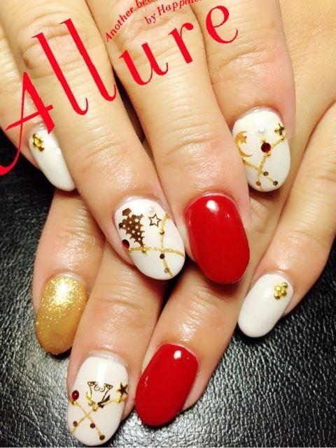 クリスマスオーナメント ネイルの画像   奈良 橿原八木 ネイルサロン Allure Nailのネイルデザインカ…