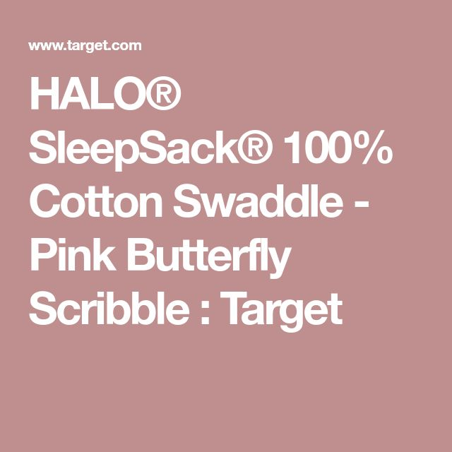 HALO® SleepSack® 100% Cotton Swaddle - Pink Butterfly Scribble : Target