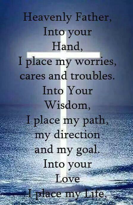 Laying it all at your feet Lord. Thank you in advance!