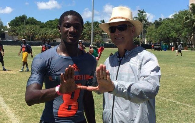 Shirts With Random Triangles: Miami Adds Safety Prospect DJ Ivey To Its 2018 Recruiting Class.