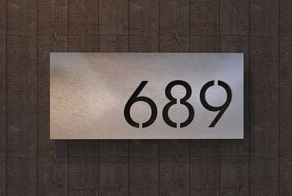 Stainless Steel House Number Plate Valcour House Number Plates House Numbers Steel House