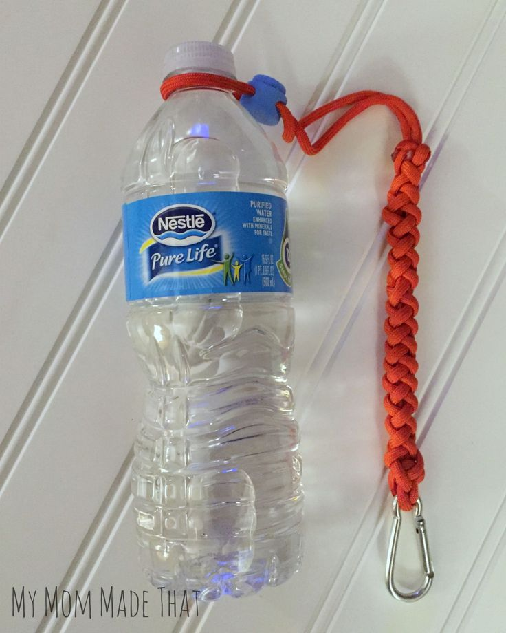 My Mom Made That: Paracord Water Bottle Holder {Sponsored by Nestle Pure Life Water]
