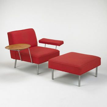 George Nelson, #5071 Lounge Chair & Ottoman for Herman Miller, 1955.