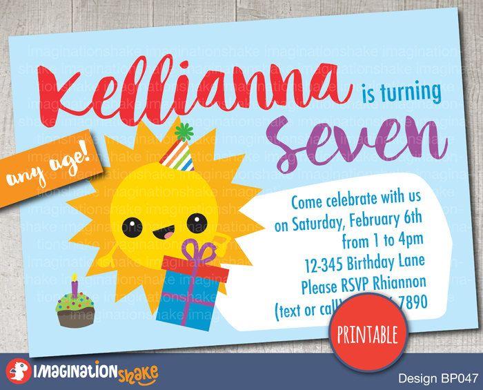 72 best Printable Invitations images on Pinterest Printable - birthday template invitations