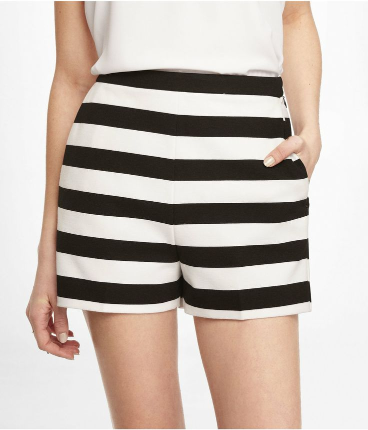 2 1/2 INCH HIGH RISE STRIPED SHORTS   Express