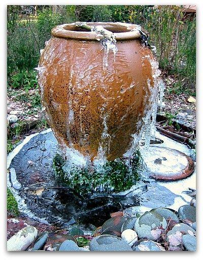 water geluid in de tuin