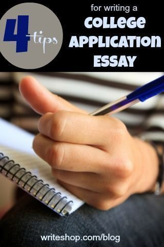 4 tips for writing college application essays. Rent and Purchase WriteShop curriculum at Yellow House Book Rental https://www.yellowhousebookrental.com