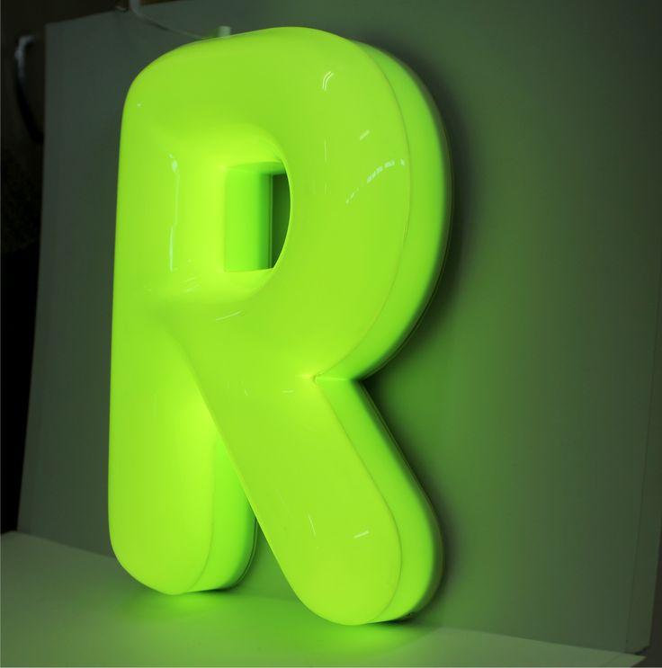 Vacuum gevormde led letter