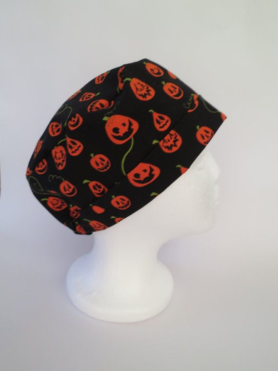Scrub Hat Theatre Surgical Cap  Black  by SnazzyScrubHats on Etsy