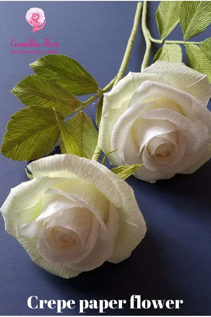 DIY- Crepe paper flower -How to make paper rose – Realistic paper rose – kreativ