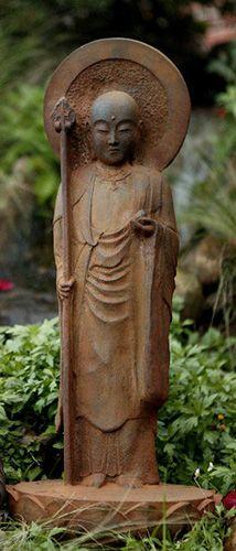 Standing Jizo Garden Statue http://www.bighappybuddha.com/stjigast.html