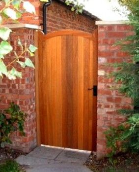 wooden gates for side of house | Gate Posts? No Gate Posts Above Ground Gate Posts Below Ground Gate ...