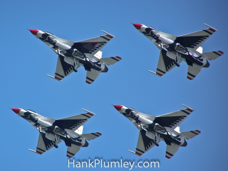 USAF Thunderbirds Dirty Diamond formation 2009 Cleveland National AirShow