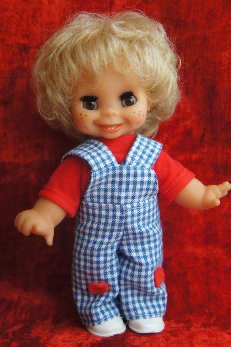 Кукла (смеётся, комбинезон в клетку, веснушки). Поиск игрушек, детских книг и настольных игр СССР -  http://doska-obyavleniy-detstva.blogspot.ru/