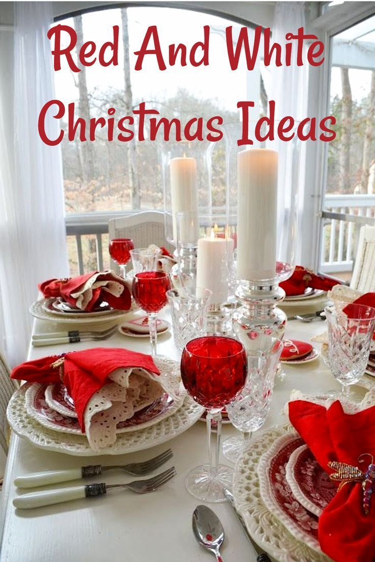 Red And White Christmas Table Setting Ideas Valentines Day
